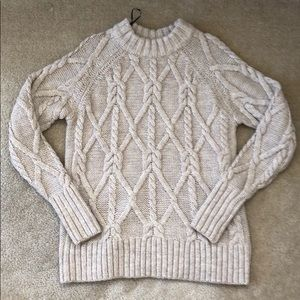 H&M Cream Cable Knit Sweater XS
